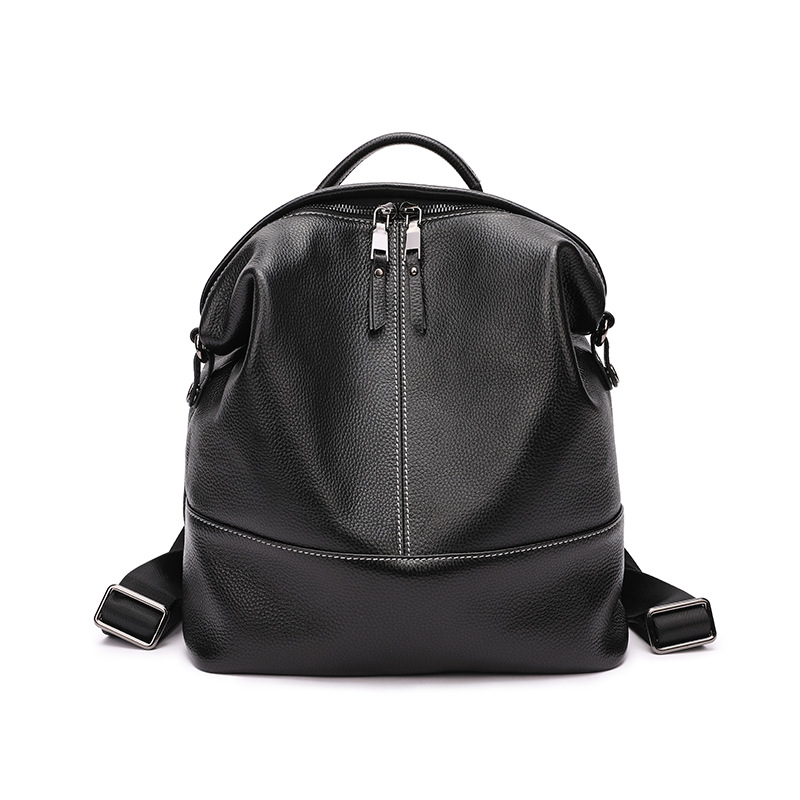 backpack female 2019 new fashion top layer leather wild single shoulder large capacity casual ladies backpack