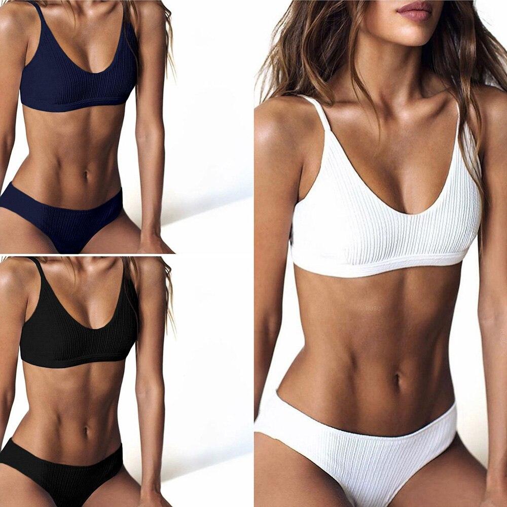 Elasticity Sport Bikini Set 2019 Sexy Bikini Swimwear Women Push Up Swimsuit Bandage Brazilian Bikini Female Maillot De Bain