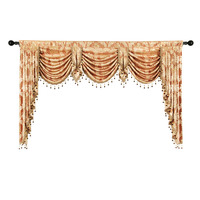 European Style Modern Jacquard Curtains Valance for Living Room Cafe Pelmet Window Luxury Valance fabric For Bedroom Door