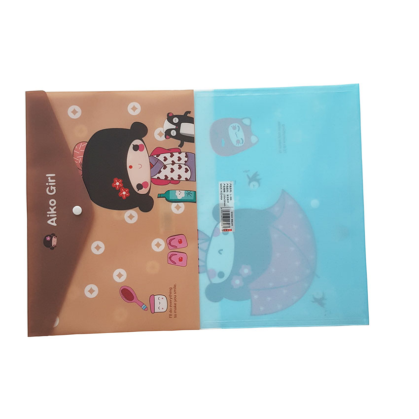 24pcs/lot New Cute Japanese Girl File Bag PVC Waterproof Filebag/DIY Stationery Bag/office School Supplies Wholesale