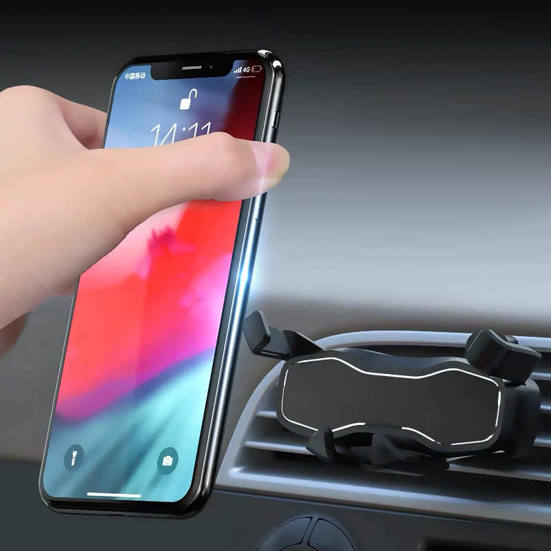 Это один гравитационный Автомобильный держатель для телефона для iphone 8 X Xs Max samsung S9 в автомобильном вентиляционном отверстии держатели без магнитной подставки для мобильного телефона