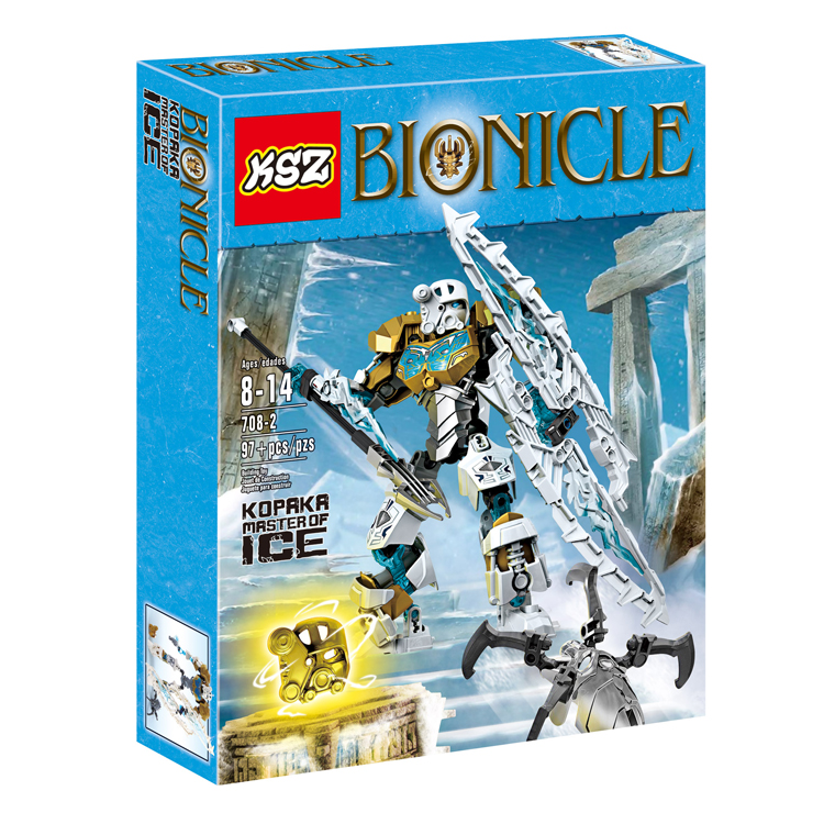 1 Box 91pcs BIONICLE series 708-2 KOPAKA Master of ICE action figure Building Block brick toys Compatible With Legoes LR-618 brick master 301 печка