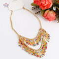 2017 Top Quality Handmade Acrylic Necklace African Beads Jewelry Fashion Jewelry Party Style Accessories For Women WYA145