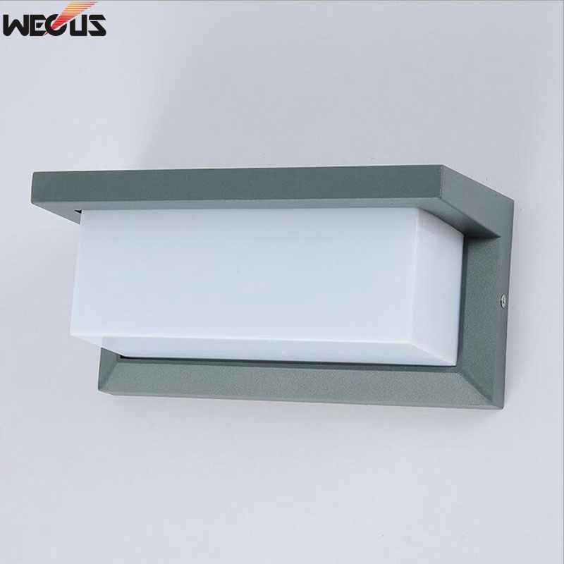Outdoor led wall lamp, outdoor waterproof wall lamp, aluminum alloy courtyard aisle wall square wall lamp