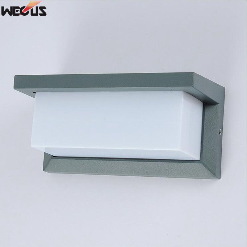 LED-Wandleuchte für den Außenbereich, wasserdichte Wandleuchte für den Außenbereich, Aluminiumlegierung-Innenhofgangwand-Wandleuchte
