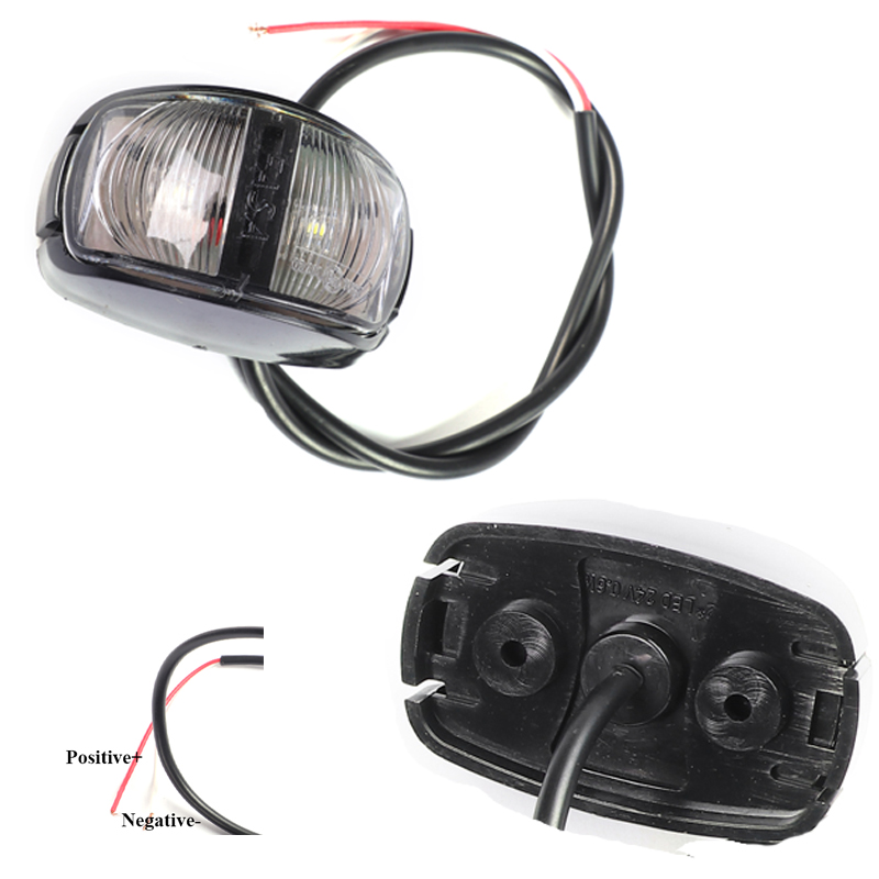 Image 2 - 1 Pair AOHEWEI 12 24V LED white front side marker light indicator sign position led light  width lamp  tail light trailer light-in Truck Light System from Automobiles & Motorcycles