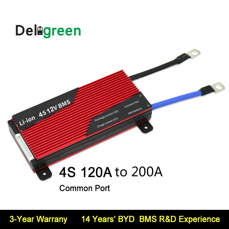 Deligreen 4S 120A 150A 200A 12V PCM/PCB/BMS For 3.2V LiFePO4 3.7V LiNCM Battery Pack Li Ion Battery Pack With Balance Function