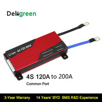 Deligreen 4S 120A 150A 200A 12V PCM/PCB/BMS for 3.2V LiFePO4 3.7V LiNCM battery pack LI Ion Battery Pack protection board