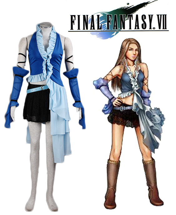 Athemis Women Dress of Final Fantasy XII Yuna Lenne Song Halloween Blue Cosplay Costume Custom Made Any Size image
