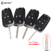 KEYYOU Include Cutting Blade 2 3 4 5 Button Key Shell For Chevrolet Cruze Epica Lova Flip Folding Remote Key Case Keyless Fob