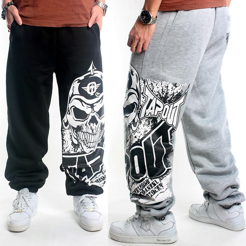 Los hombres de Impresión de la Pintada pantalones Anchos de La Pierna  Pantalones Casuales Mediados de Cintura Elástica Completa longitud de la  cadera hop ... 9fd2e605f69a