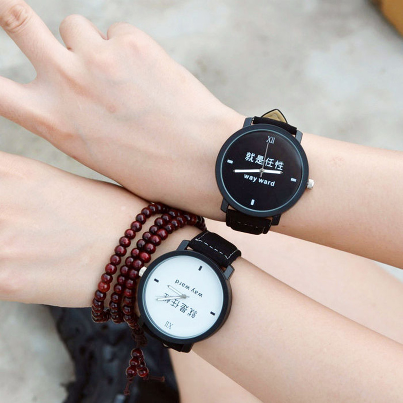 Simple Fashion Trend Couple Quartz Watch Good Morning Good Night 1314 a pair of male and female students belt watch mary pope osborne magic tree house 26 good morning gorillas