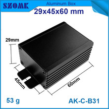 1 piece wall mounting aluminum amplifiers enclosure 29*46*90mm electronics control box for pcb