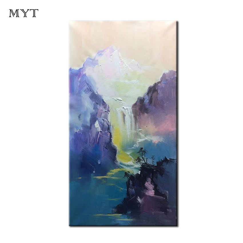 MYT Original Design Oil Painting On Canvas 100% Handpaint Works Abstract Canvas Art  Poster Picture Wall House Decoration Murals