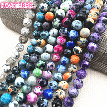 Wholesale 8mm Natural Agat Stone Bead Loose Spacer Beads For Jewelry Making  For Bracelet Necklace