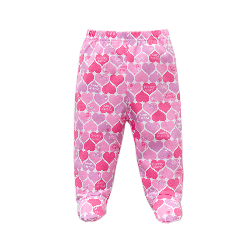 2018 New Fashion Baby Pants Cotton Baby Girl Boy Footed Pants Cartoon Printed Baby leggings Infant Newborn baby Clothing 3-12 M