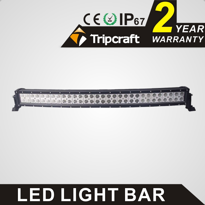 TRIPCRAFT 180w led work light bar 31.5inch curved car lamp for offroad 4x4 truck spot flood combo beam driving light fog light spot flood combo 72w led working lights 12v 72w light bar ip67 for tractor truck trailer off roads 4x4 led work light