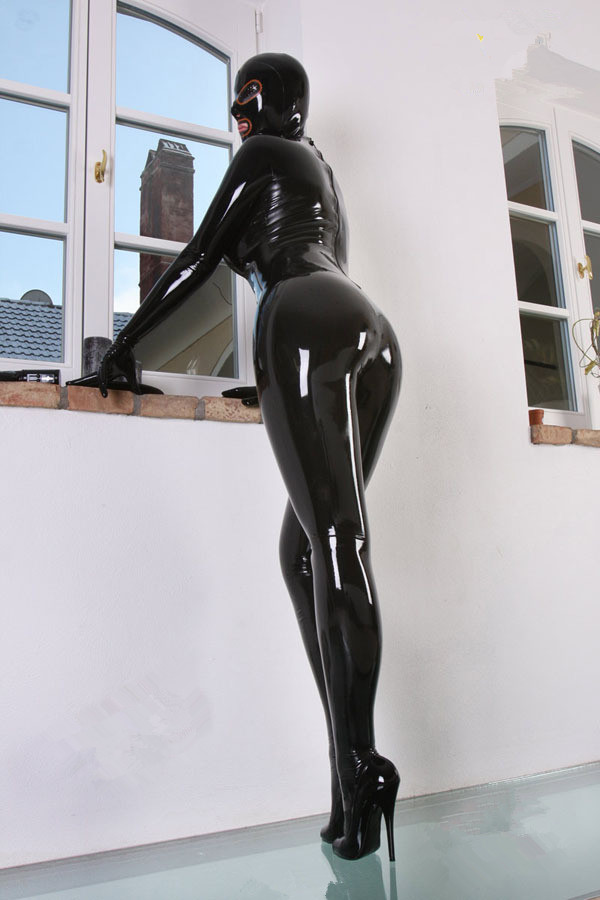 Sexy-Black-Latex-Rubber-Zentai-Catsuit-with-Latex-Hood-Latex-Gloves-Latex-Socks-2