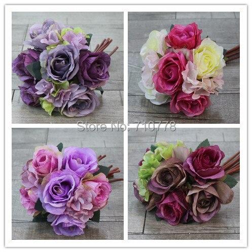 4c Hochzeit Blume Bouquet Die Trauzeugin Halt Blumen Seiden Einzelne