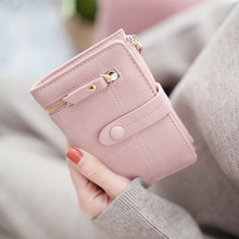 2019 new fashion ladies wallet short clutch bag matte small female
