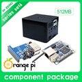 New orange pi zero set 6: orange pi zero 512 mb + placa de desenvolvimento placa de expansão + caixa preta além raspberry pi