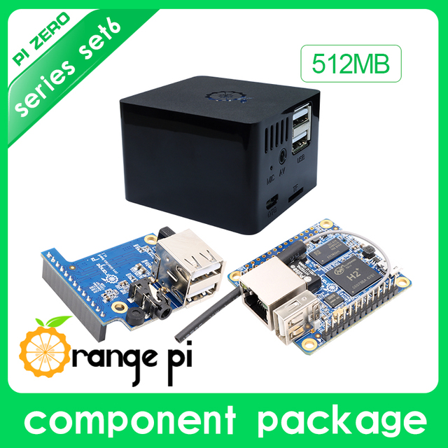 Orange Pi Zero Set 6:Orange Pi Zero 512MB+Expansion Board+Black Case development board beyond Raspberry Pi
