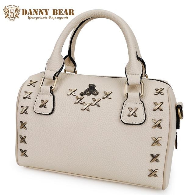 894baf5c0c DANNY BEAR Women Leather Handbags Brand Designers Fashion Rivet Tote Bag  Vintage Crossbody Shoulder Bags Bolso de las mujeres