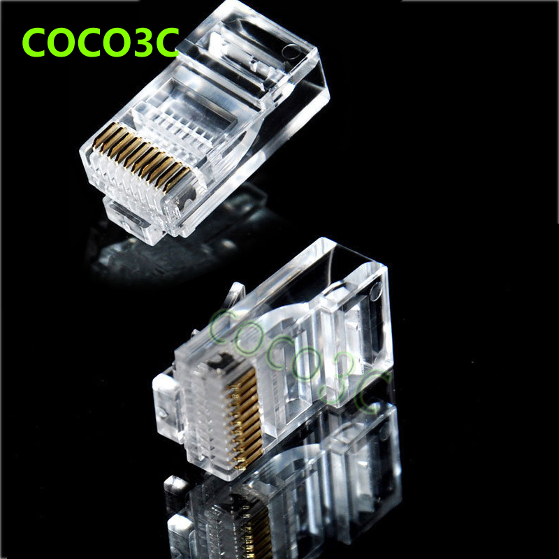 popular rj48 connector buy cheap rj48 connector lots from 1000pcs rj48 modular plug stranded rj 48 male 10p10c round network cable glod planting jack