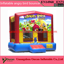 4x4m PVC tarpaulin inflatable bouncer, inflatable bouncy castle with free shipping