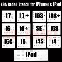 13pcs Lot IC Chip BGA Reballing Stencil Kits Set Solder Template For Iphone 4 4s 5