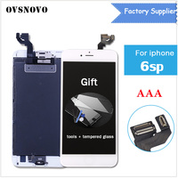 OVSNOVO LCD Touch Screen full assembly frame+front camera for iPhone 6s plus 5.5 100% No dead pixels factory big promotion+gift