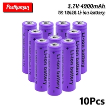 New Protected Cell Power battery Rechargeable 18650 Batteries 3.7V 4900mAh Li-ion Lithium For Laser Pen LED Flashlight