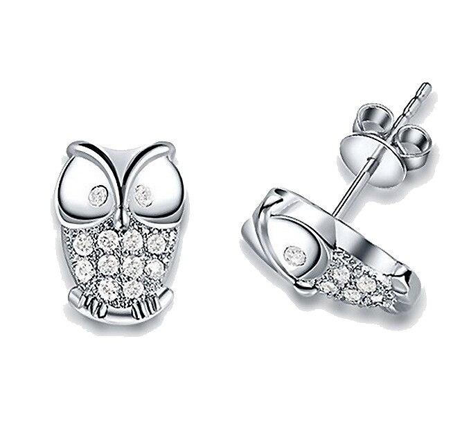 925 Silver Fashion Jewelry Angel /cthalkoa Bdjajuqa Dh-e270 Hot 925 Sterling Silver Earrings Owl