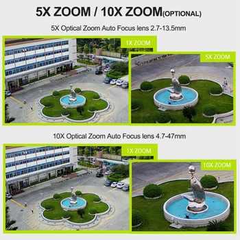 1080P 3G และ 4G Bullet กล้อง PTZ กลางแจ้ง 5X/10X Optical Zoom ซิมการ์ดกล้อง 2MP p2P สนับสนุน MAX 128G Micro SD