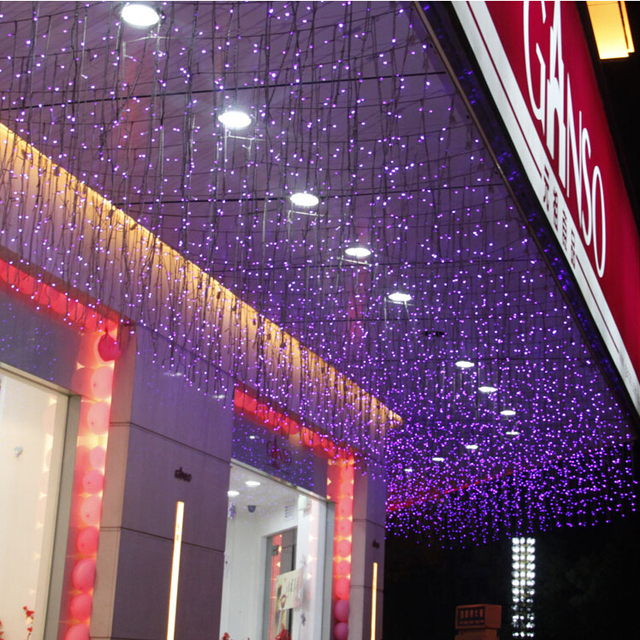 1.5m * 0.5m LED Curtains Garland String Lights Christmas New Year Holiday  Party Wedding