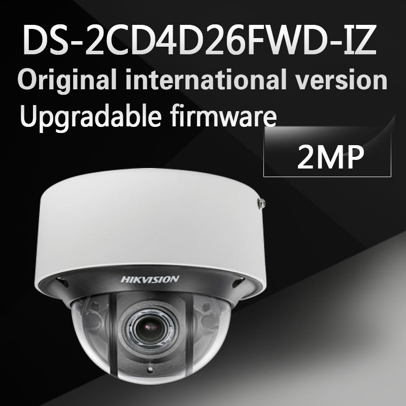 Free shipping DS-2CD4D26FWD-IZ English version 2MP Ultra Low Light Smart Dome IP Camera POE, up to 30m IR, H.264+, no audio hikvision ds 2df8223i ael english version 2mp ultra low light smart ptz camera ultra low illumination dark fighter