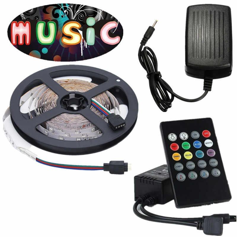 5 m 10 m 15 m LED Bande 12 v 60 leds/m Étanche Flexible RGB Bande Ruban SMD 2835 Corde Cordes Lampe + WiFi Bluetooth Contrôleur