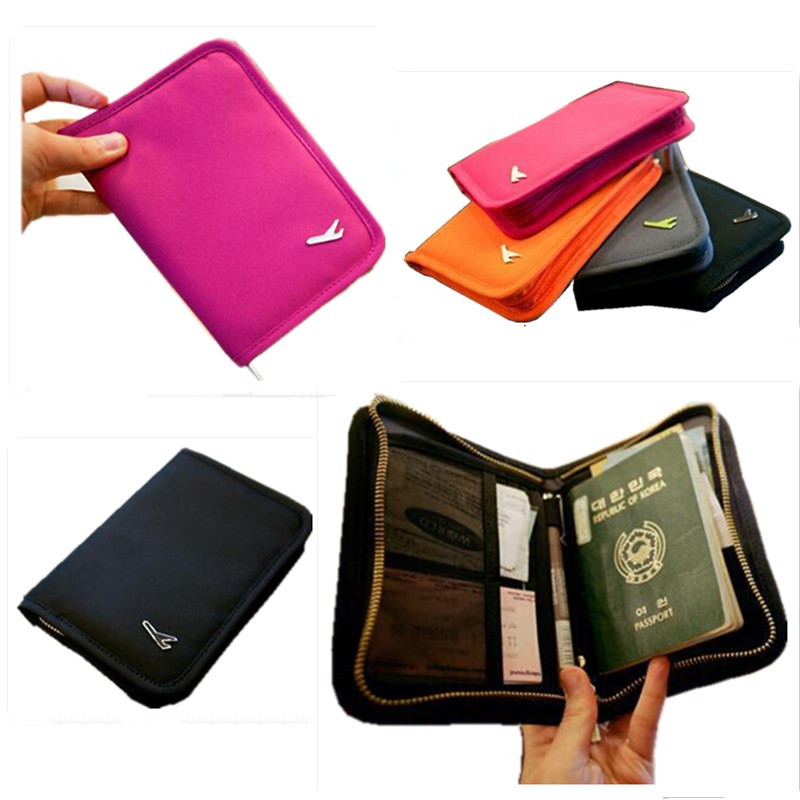 Clutch bag travel documents passport cover holder bill package of documents credit card holder bag free shipping map design passport holder leather passport cover passport package travel card holder bag for travel with size14 9 6cm