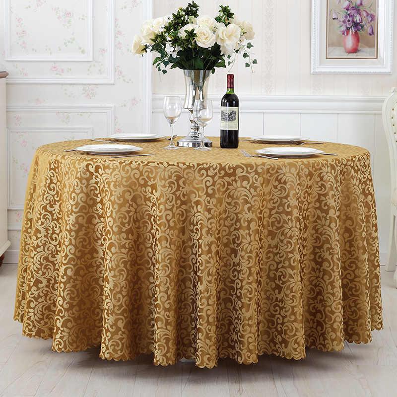 Wliarleo 18-Размеры полиэстер скатерть, скатерть свадьбы круглый hotel/дом обеденный пыли покрытие стола manteles Para меса