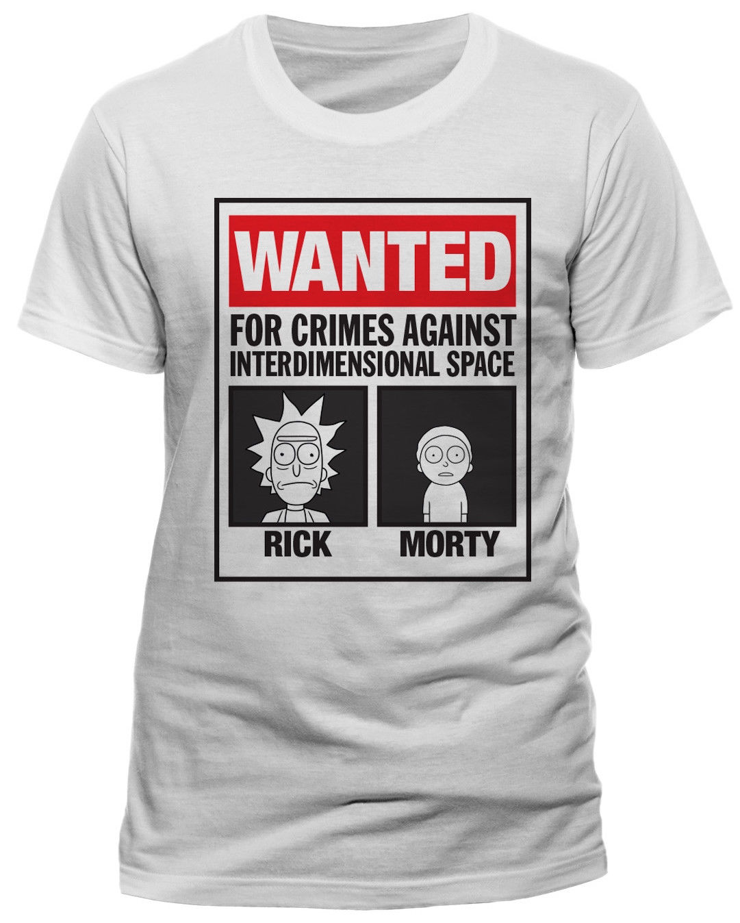 Rick E Morty Wanted T-SHIRT - NUOVO E ORIGINALE ...