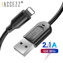 !ACCEZZ Data USB Cable For iPhone 7 Plus X XS Max XR iPad Fast Charging Charger Lighting 8 Pin Short Cables Long Wire 30CM 1M 3M