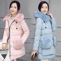 Winter Jacket Women soft fake Fur Hood Coat Brand warm down coat Long Warm Winter coat women Women Long Style Down jacket coat