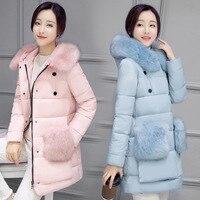 Winter Jacket Women Soft Fake Fur Hood Coat Brand Warm Down Coat Long Warm Winter Coat