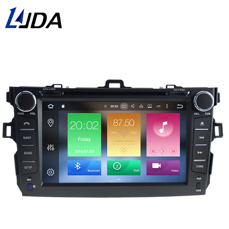 LJDA 8 Inch 2 DIN 4G+32G Android 6.0 Car DVD Player For TOYOTA COROLLA Octa Core 1080P BT Radio Multimedia GPS Navigation Stereo