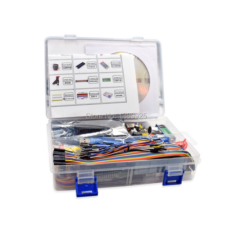 WeiKedz Project Complete Starter Kit With Tutorial For Ar-duino UNO R3 Mega 2560 Robot Nano Breadboard Kits
