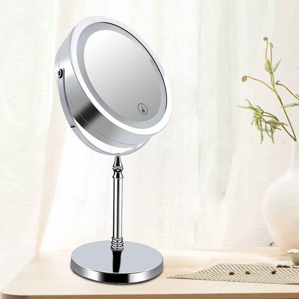 7Inch Double Sided Makeup Mirror 10x Magnified Dimmable