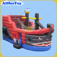 Commercial Use Inflatable Pirate Ship Slide,PVC Tarpaulin Material Bouncy Castle