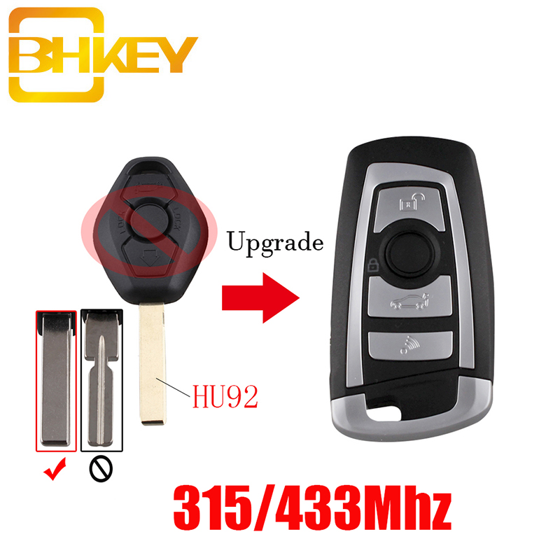 BHKEY New Style 3Button Remote Key For BMW 315/433Mhz ID44 Chip For BMW EWS 325 330 318 525 530 540 E38 E39 E46 M5 X3 X5 HU92