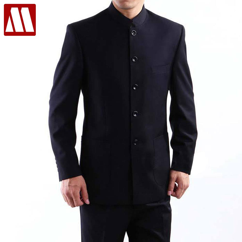 2017 Mens restore ancient ways Chinese casual suit coat single breasted Blazers patch pocket leisure Chinese tunic suit S-XXXXL