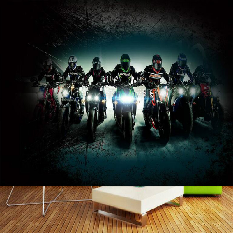 Bar Creative Motorcycle Large Mural Wallpaper Living Room Bedroom Wallpaper Painting TV Backdrop 3D Wallpaper for walls paper 3d custom baby wallpaper snow white and the seven dwarfs bedroom for the children s room mural backdrop stereoscopic 3d